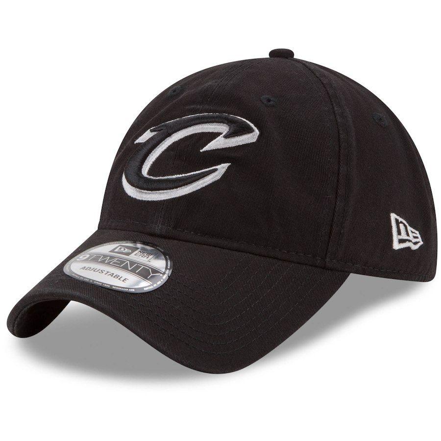 d05003ddafe99 Men s Cleveland Cavaliers New Era Black 9TWENTY Core Classic Adjustable Hat