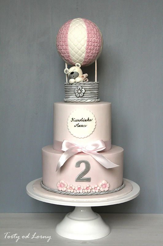 Beautiful Hot Air Balloon Baby Shower Cake Part - 11: Hot Air Balloon.. By Lorna