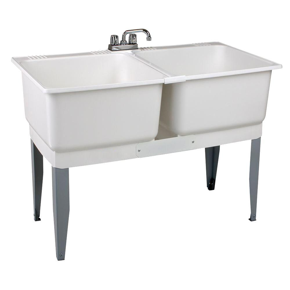 Mustee 46 In X 34 In Plastic Laundry Tub 24c In 2020 Laundry
