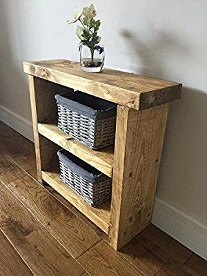Delightful Solid Rustic Handmade Pine Side / Lamp / End Table, Finished In A Chunky  Country