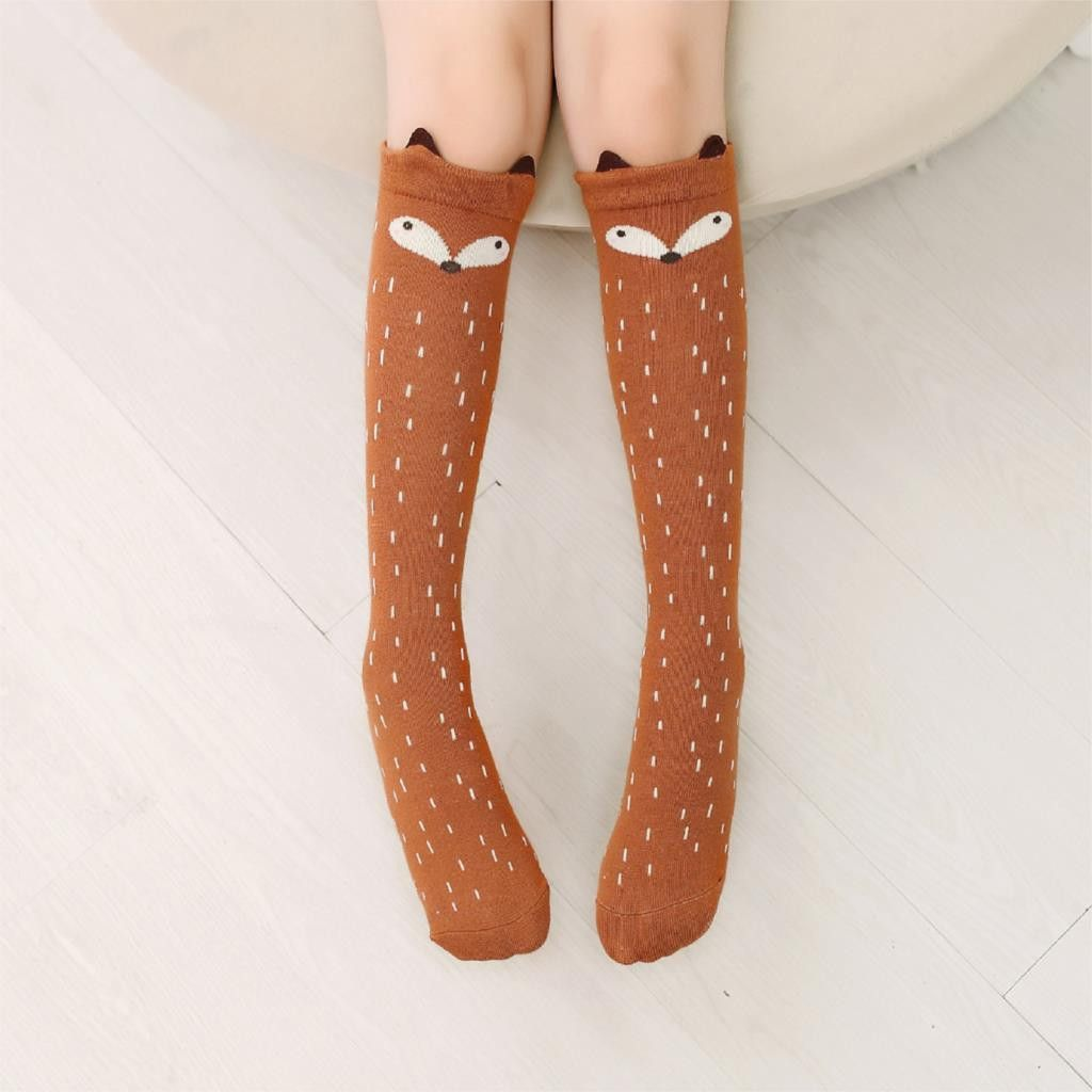Womens Cute 3D Cartoon Animals Thigh Stockings Over Knee High Long Socks Fancy