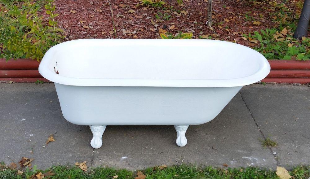Antique Original Porcelain Cast Iron 5 Ft Kohler Bath Tub Eagle