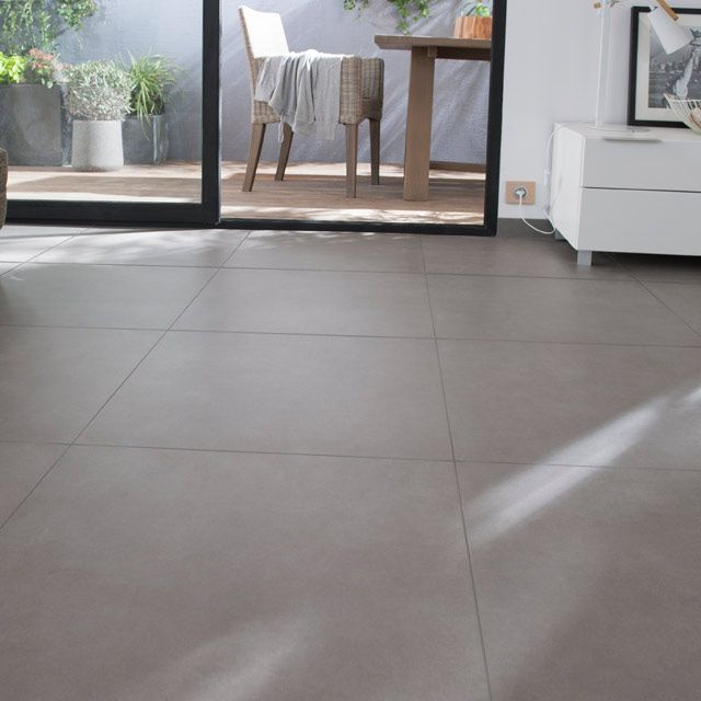 Carrelage sol taupe 60 x 60 cm cavallo castorama for Carrelage sol salon