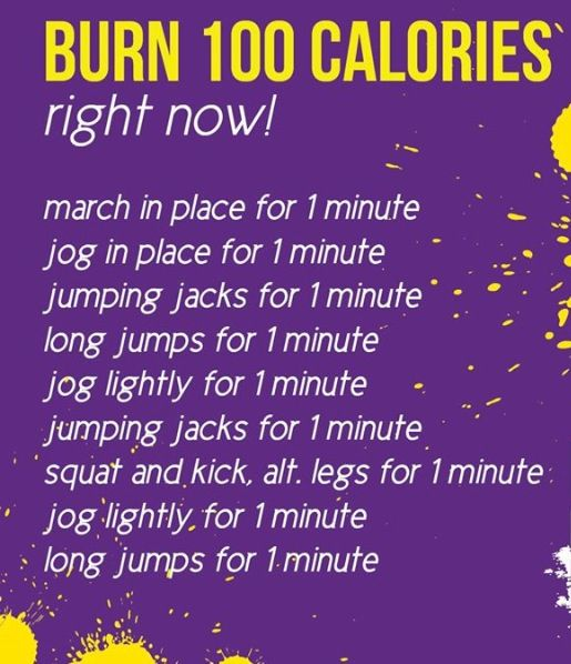 Burn 100 Calories fast | Jogging in place, Burn 100 ...