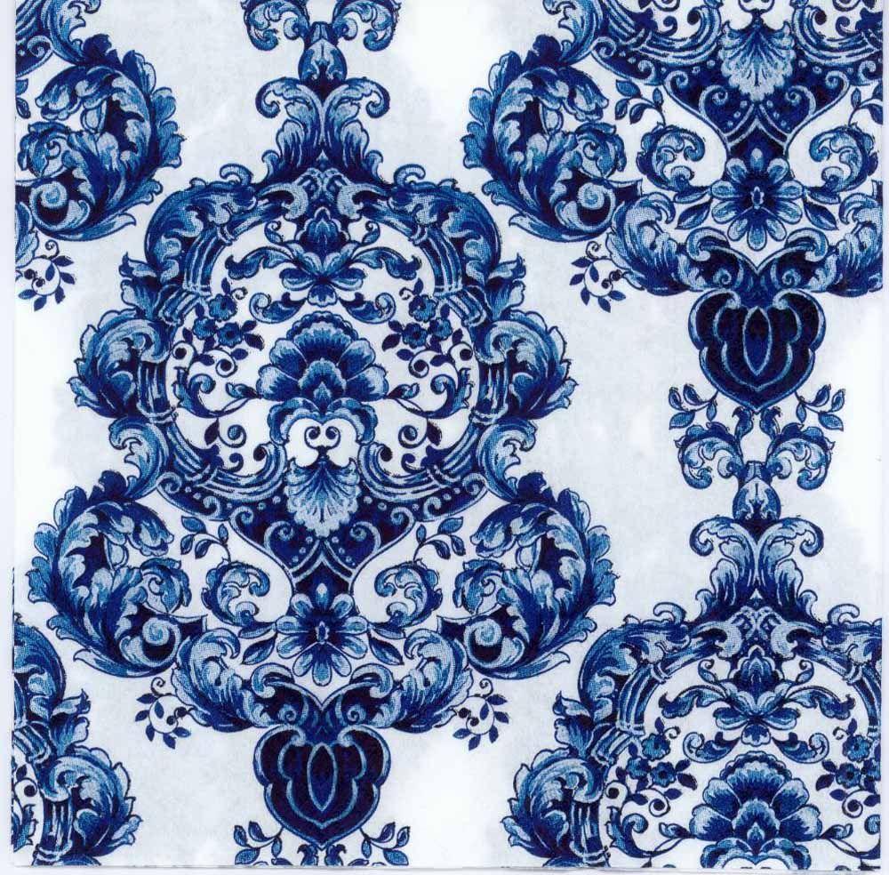 Weddings Light Blue Pattern Parties 2 Paper Napkins for Decoupage