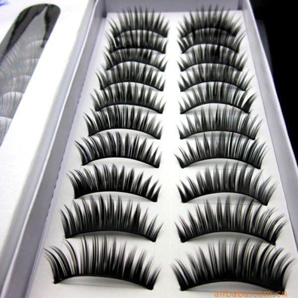 10 Pair Cotton Stalk Eyelashes False Eyelashes Natural Long Black Fake Eyelashes Makeup Tool Eyelash Extension Fake Eye Lashes Beauty Essentials