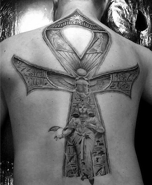 Full Back Ankh Male Tattoo Ideas Tattoos Pinterest Male Tattoo