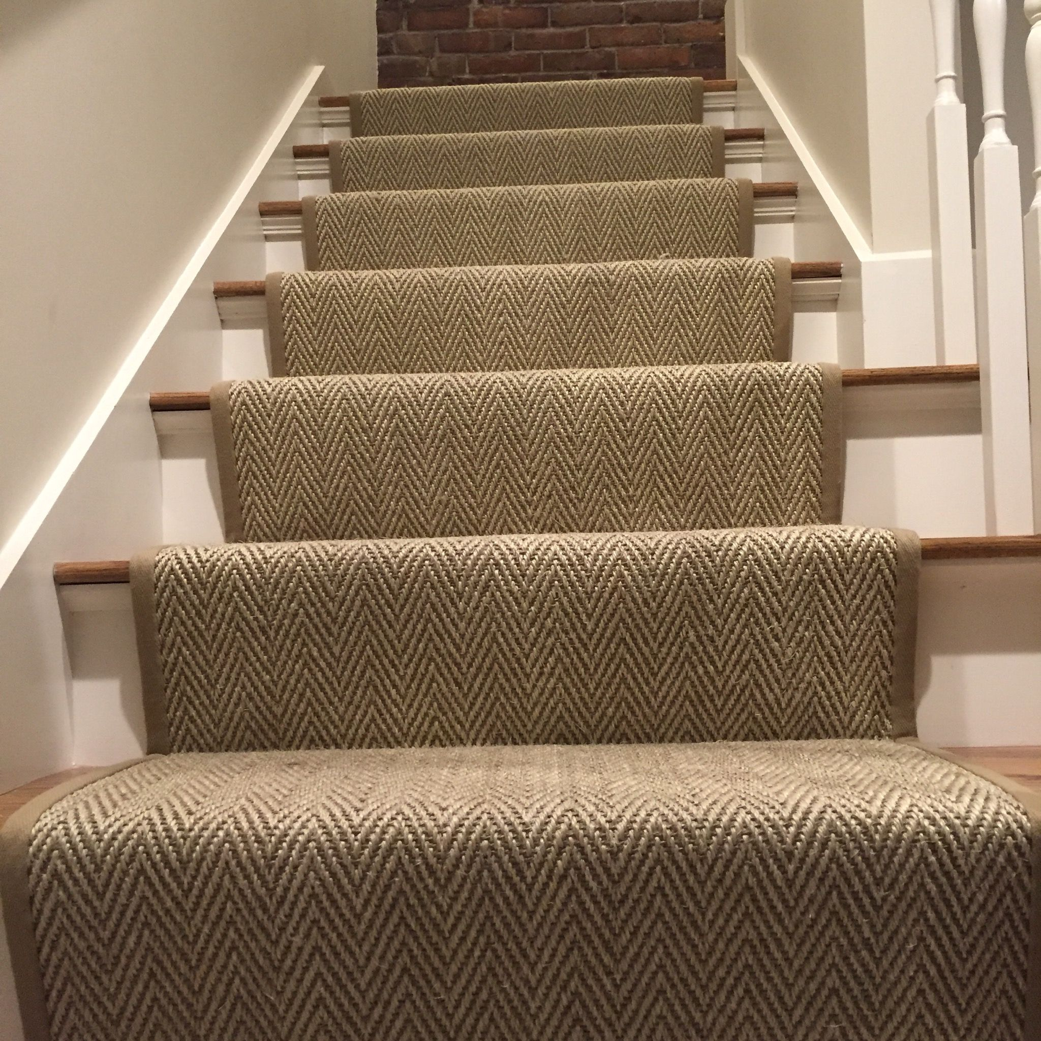 Loving This Custom Herringbone Stair Runner We Fabricated