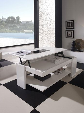 Table Basse Relevable Design Allan Laquee Blanche Table Basse Salon Design Table Basse Relevable Table Basse