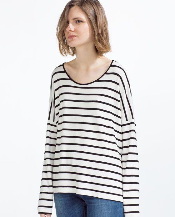 precio razonable para toda la familia diseño de calidad ZARA - MUJER - CAMISETA RAYAS   wishlist   Zara, Zara women ...