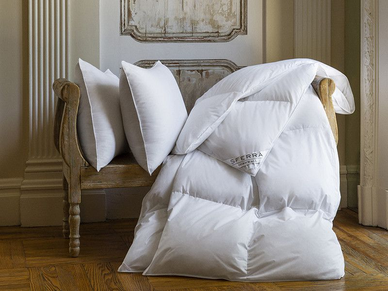 The Cornwall Pillow By SFERRA® Is Our Best Goose Down Pillow Covered In A  Dust