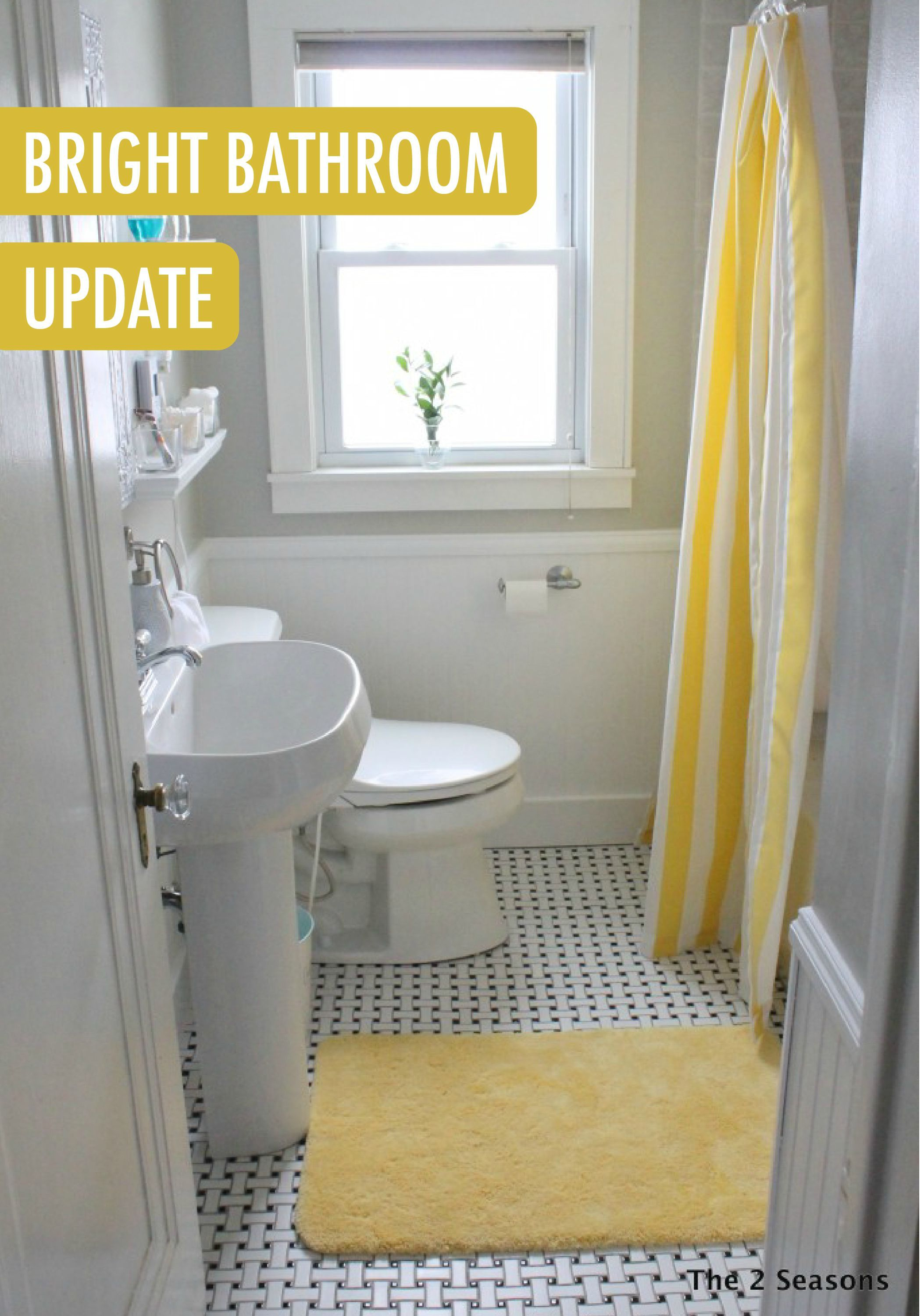 The 2 Seasons The Mother Daughter Lifestyle Blog Small Bathroom Yellow Bathrooms Bathrooms Remodel