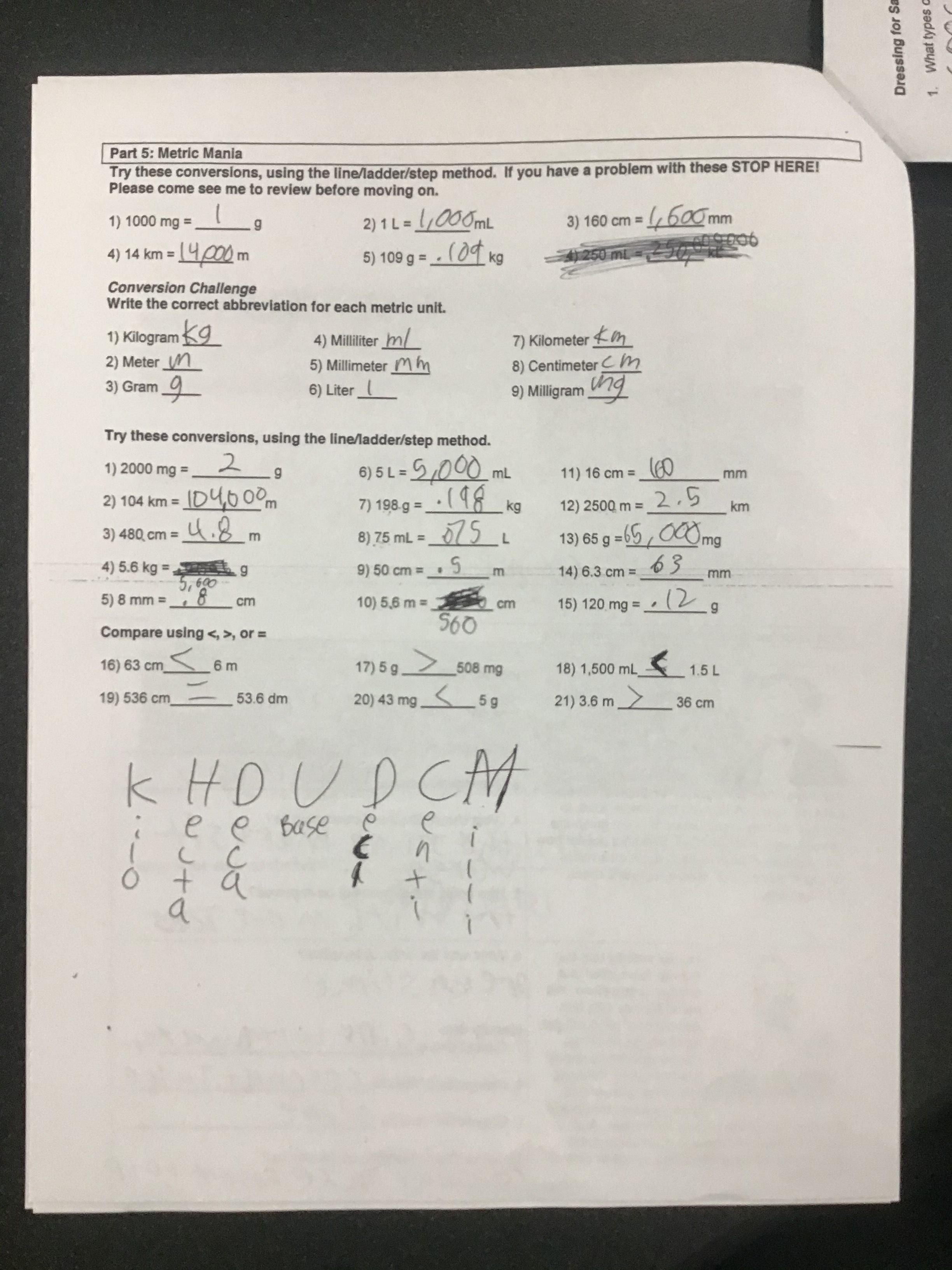 Scientific Method Metric System Amp Measurement Worksheet