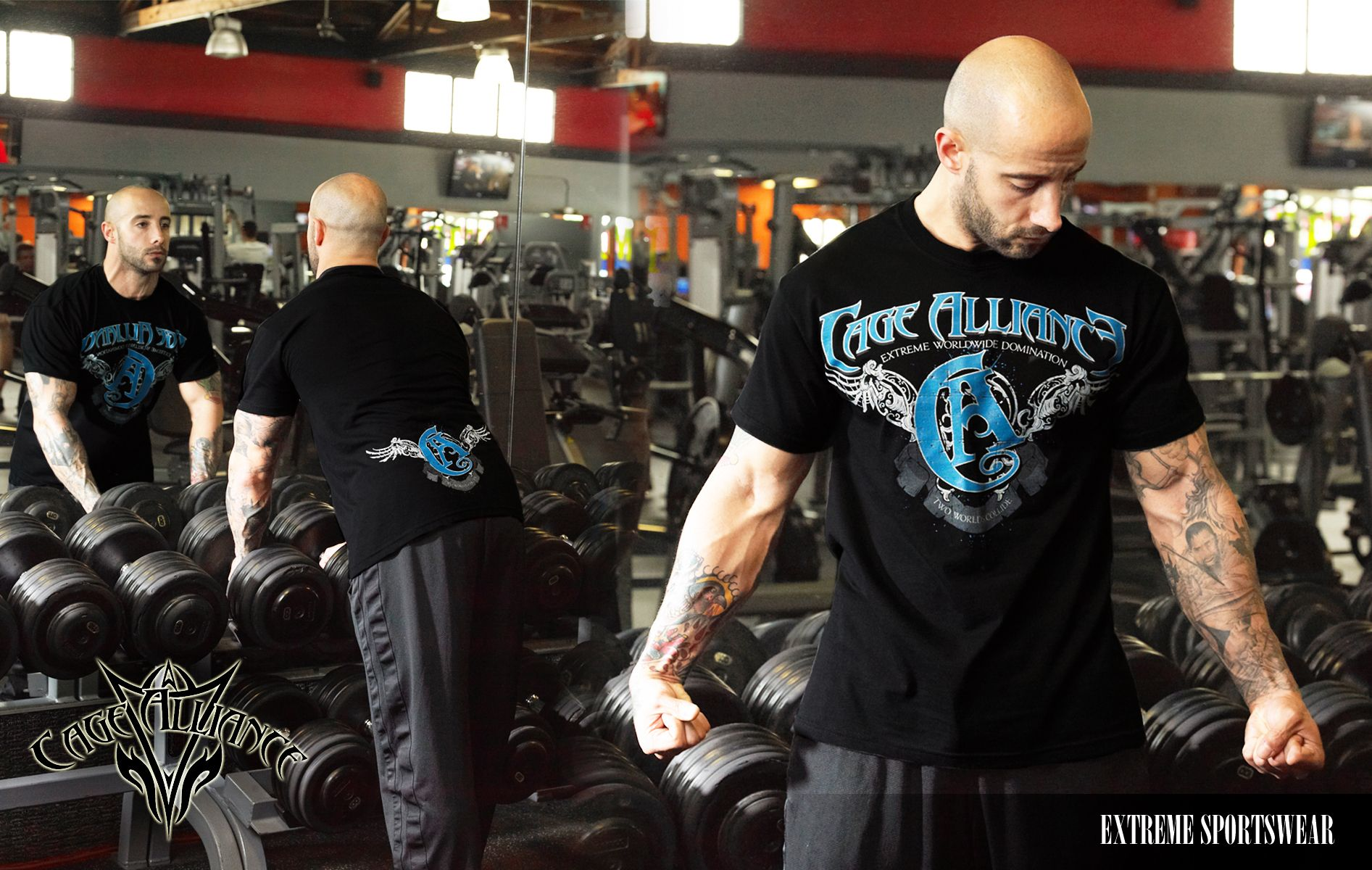 """Cage Alliance clothing represents Extreme Sports Wear.  Check out the """"Wings of Glory"""" Tshirt for men  & women .Now available online at www.cagealliance.com"""