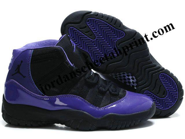 3db6bed757437e ... Cheap Air Jordans Retro 11 Women Shoes Black Purple Air Jordan 11 Low  Think 1 Black Purple AR5149-005 ...