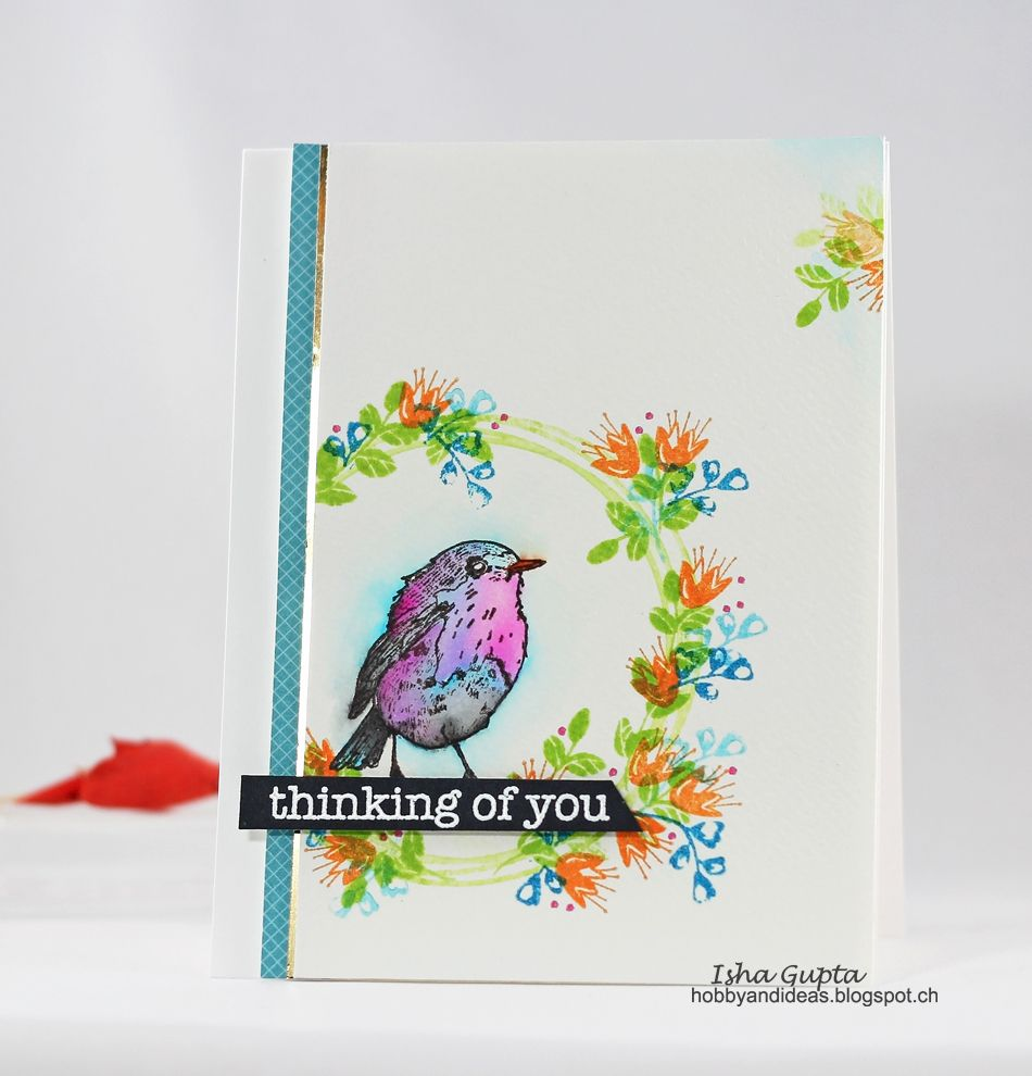 Gorgeous card created by Isha for the Simon Says Stamp Wednesday Challenge (Thinking of You)