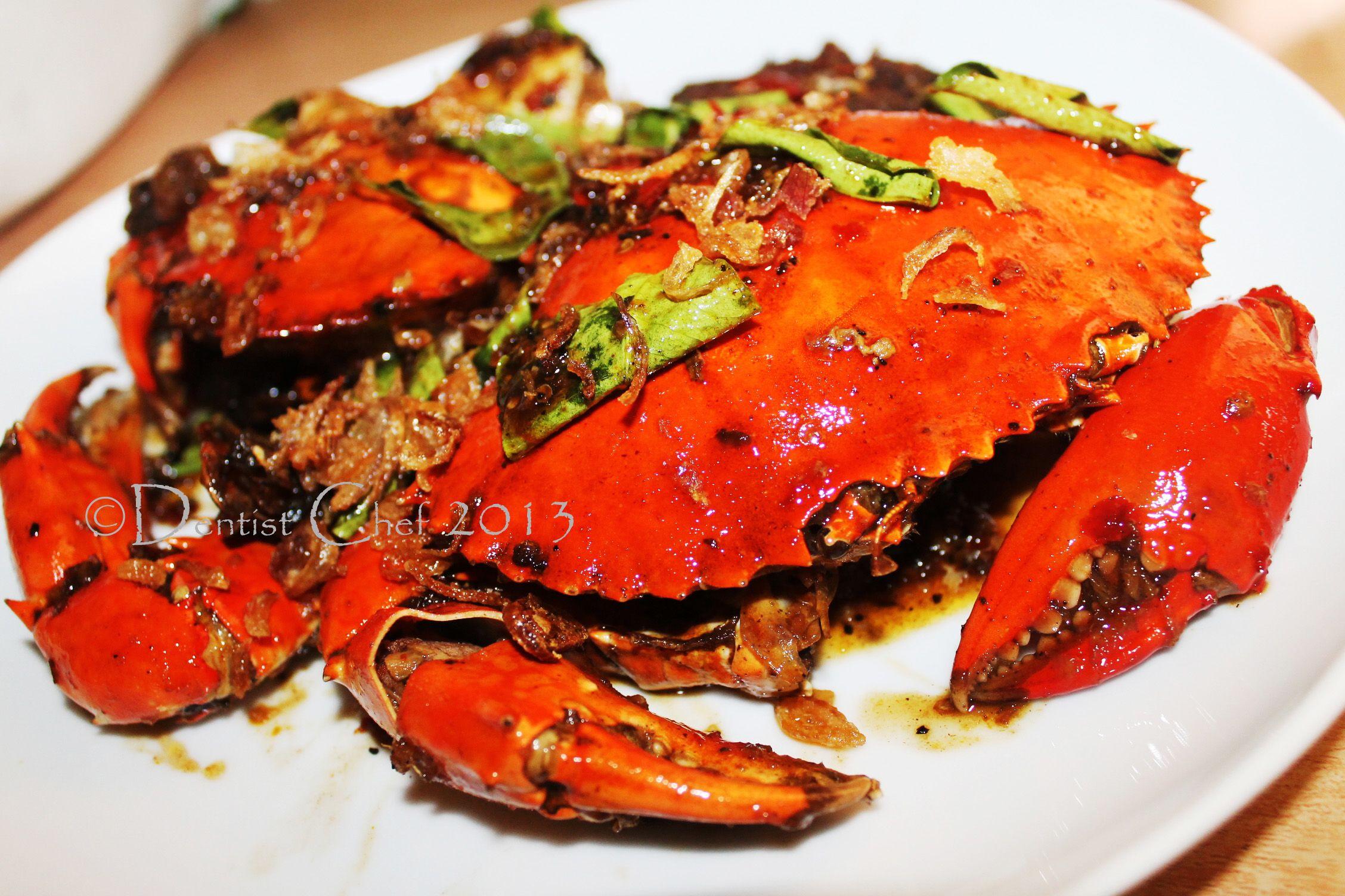 Female Roe Egg Crab In Fragrance Kam Heong Blackpepper Sauce Ala Dentist Chef Resep Kepiting Resep Makanan Resep Ikan