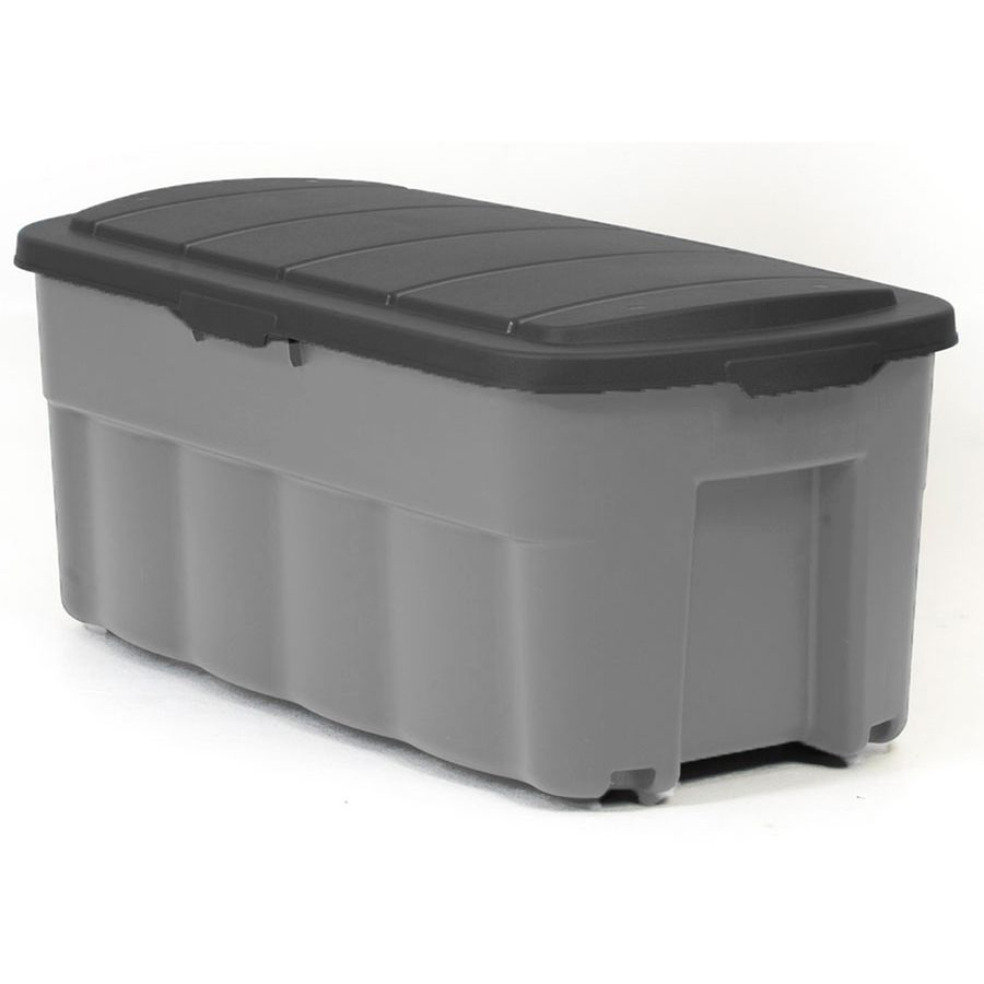 Centrex Rugged Tote 50 Gallon 200 Quart Gray Tote With Standard Snap Lid Lowes Com Storage Bins With Wheels Grey Tote Tote Storage