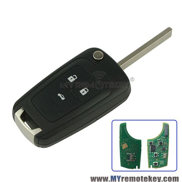 Flip Remote Key For Chevrolet Aveo Cruze Orlando 2008 2009 2010