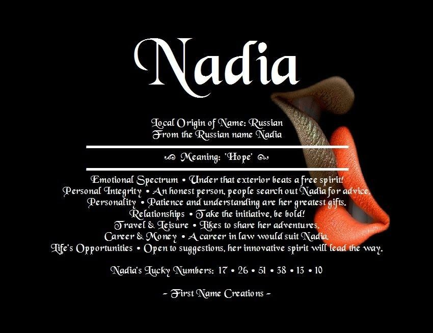 Pin By Idris Giwa On Aloma Names With Meaning Names Nadia Name