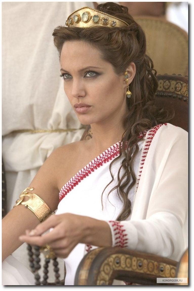 angelina jolie: alexander, grecian wedding, grecian hairstyles