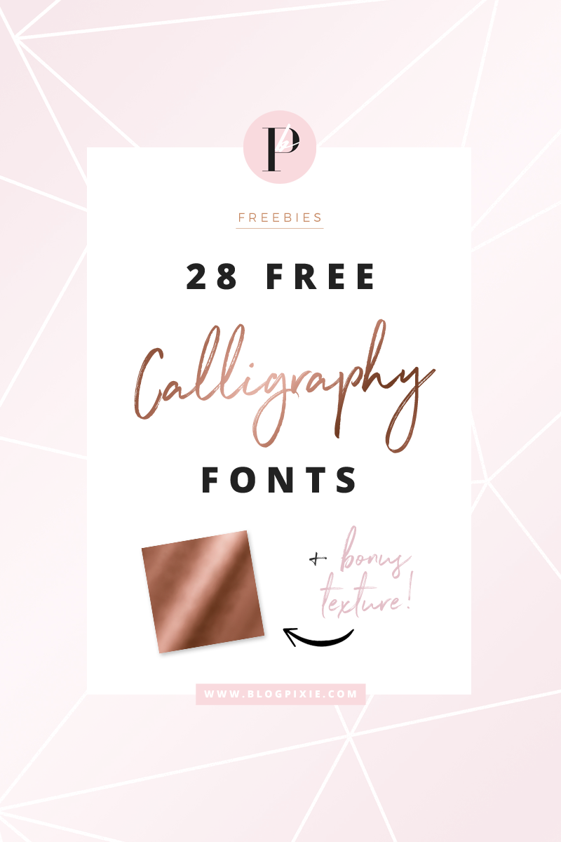 Free Calligraphy Fonts Brush script Modern calligraphy and