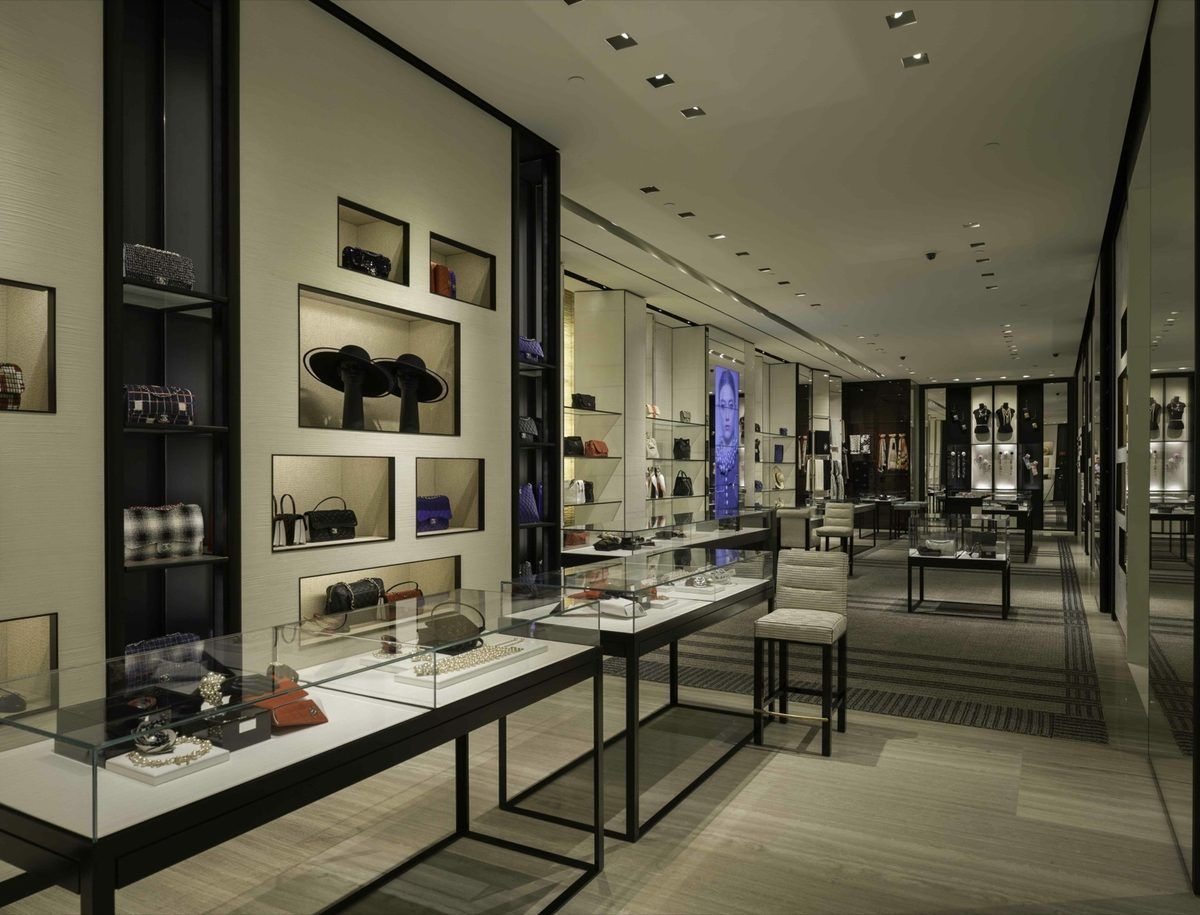 inside chanel store. chanel boston store interior - google search inside