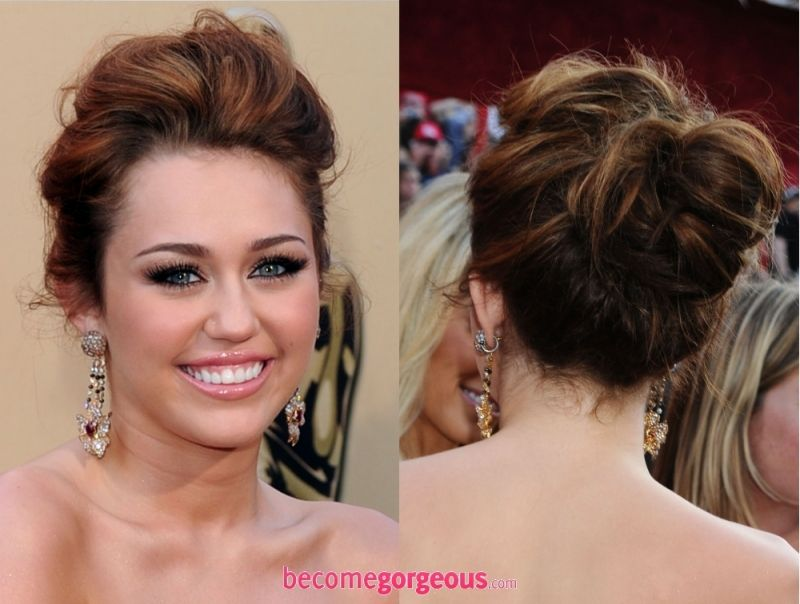 Miley Cyrus Hairstyles New Years Eve Party Updos Is That You Hair