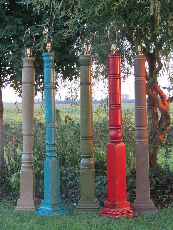 Repurposed porch columns google search fun woodworking projects porch posts repurposed porch columns google search floor lamp mozeypictures Gallery