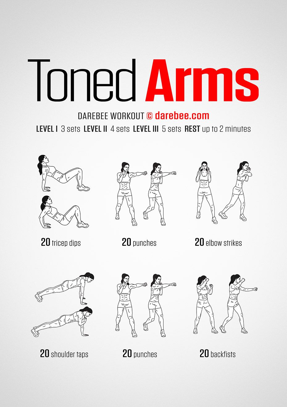 Toned Arms workout. | Get Fit: DAREBEE (Neila Rey ...