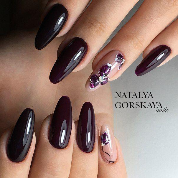 Nail Art #3723 - Best Nail Art Designs Gallery | Maroon nails ...