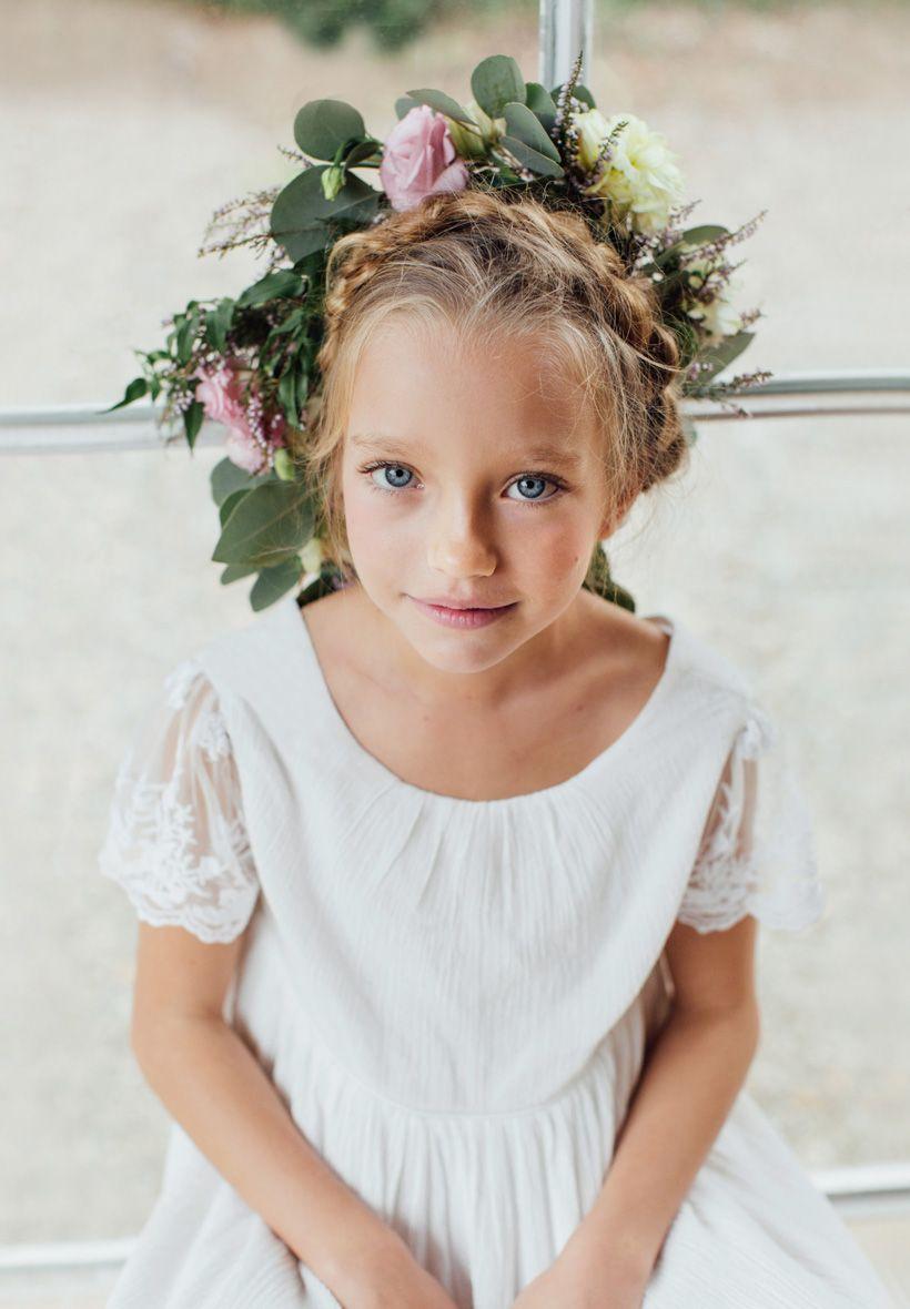 robe boh me chic enfant pour mariage et c r monie notre robe manon ivoire est en cr pe de coton. Black Bedroom Furniture Sets. Home Design Ideas