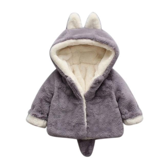 f7a5422a1 Fox Hooded Jacket | Products | Hooded winter coat, Girls winter ...