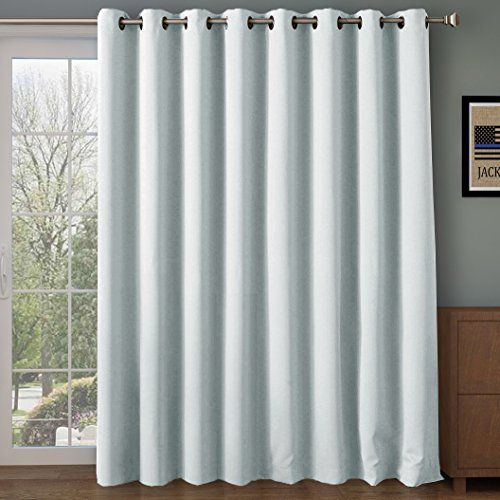 Wide Blackout Patio Door Curtain Panel Sliding Insulated Curtains Thermal Extra For