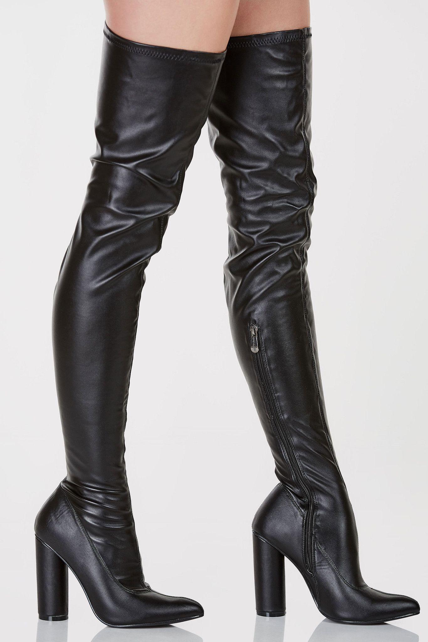 Black Widow Thigh High Boots | Boots