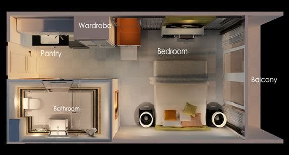 Layout Small Room Studio Apartment Floor Plans Studio Type Apartment Condo Floor Plans