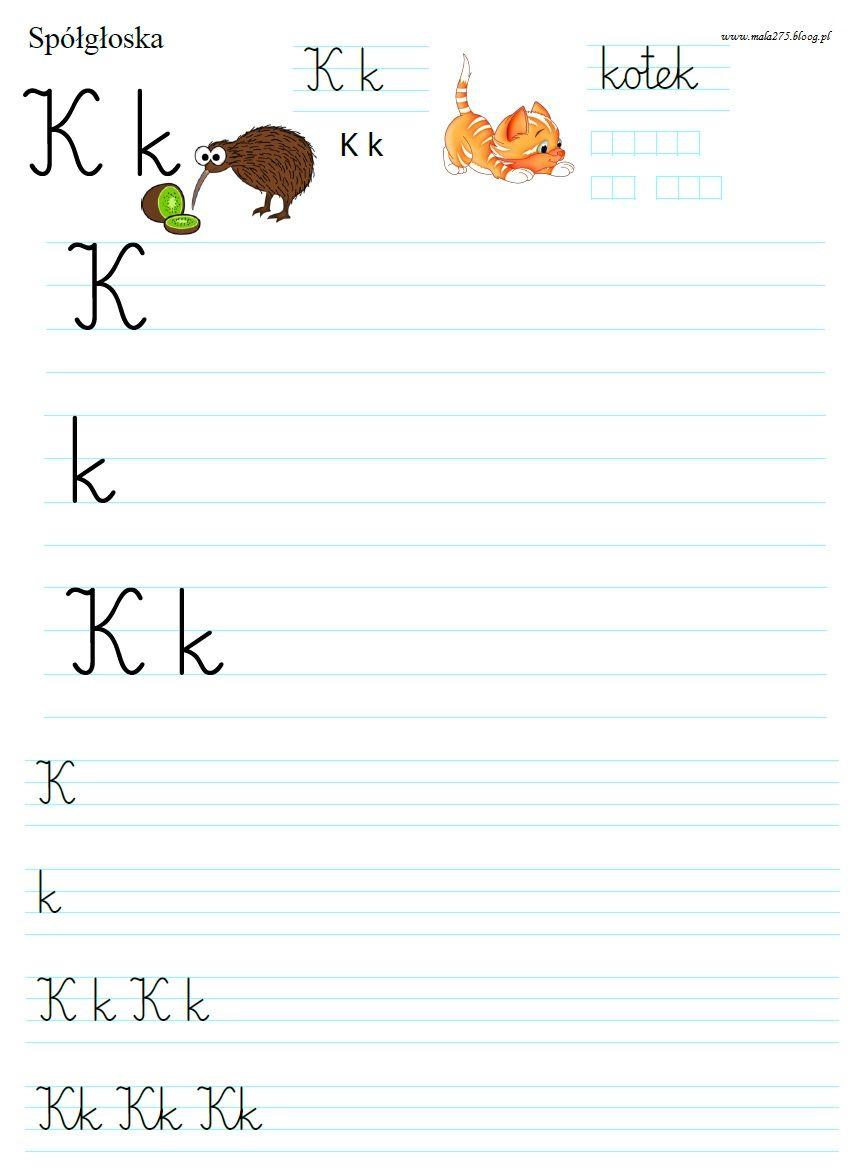 Blog Edukacyjny Dla Dzieci Literka K Polish Language Worksheets For Kids Lesson
