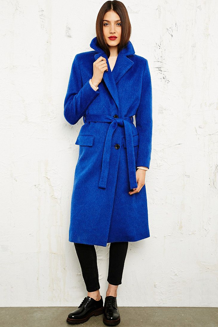 Won Hundred Tie-Waist Coat in Blue