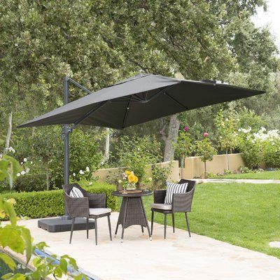 Red Barrel Studio Wardingham 10 Square Cantilever Umbrella Color Cantilever Umbrella Patio Umbrellas Backyard