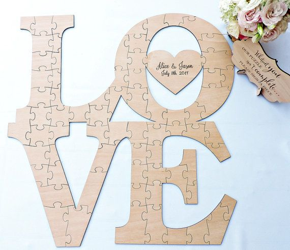 Aliexpress  Buy Puzzle Guest Book, Love Wedding Guestbook