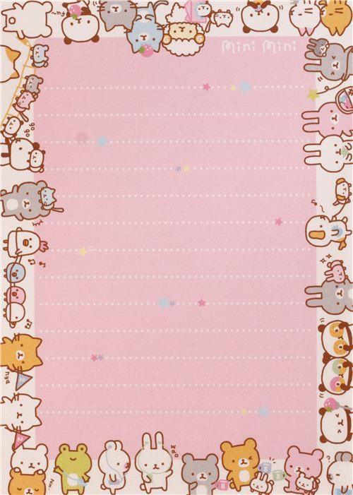 cute colorful bunny cat panda bear animal block Note Pad by Q-Lia ...