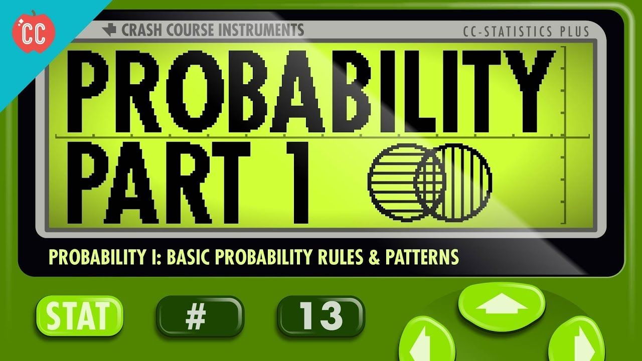 Probability Part 1 Rules And Patterns Crash Course Statistics 13 Math Courses Learning Math How To Memorize Things