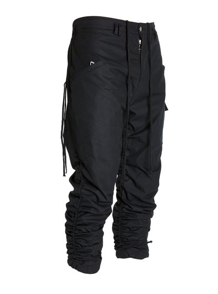 Uarte Adjustable Cargo Pants Technical Cargo Pants Featuring Long Black Drawstrings Two Front Riri Zipped Pockets O Black Cargo Pants Cargo Pants Men Pants
