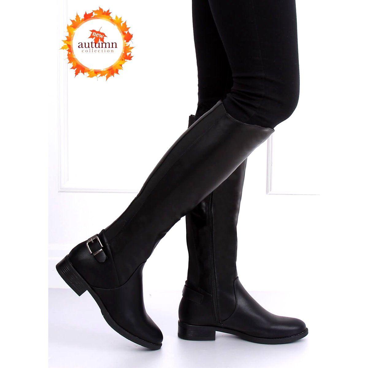 Kozaki Oficerki Czarne B 321 Black Boots Knee Boots Riding Boots