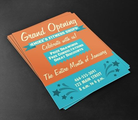 Grand Opening Flyers  SignazonCom  Flyers    Grand