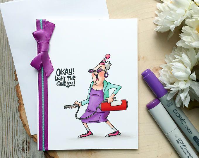 Funny Birthday Card Happy Humorous Handmade Grandma Humor