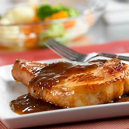 Photo of Serve with rice, noodles or couscous! Glazed Pork Chops-Serv…