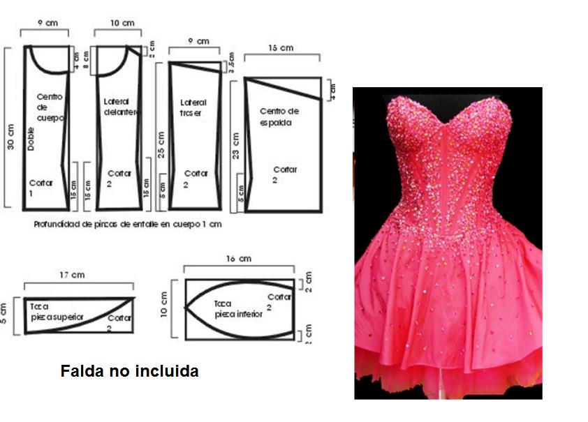 Curso de patrones base y moda: Corpiño Fiesta ... <3 Deniz <3 ...