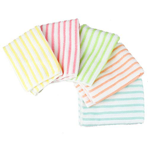 New Microfiber Dish Towel Stripe Wash Cloth Cleaning