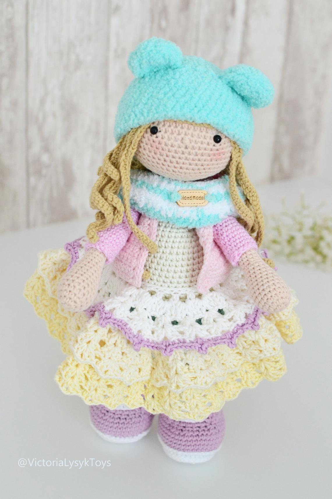Tilda Bunny Doll crochet ALINA 13 pulgadas hecha a mano   Etsy ...   1710x1140